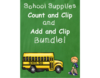 Back to School Count & Clip + Add and Clip Bundle!!