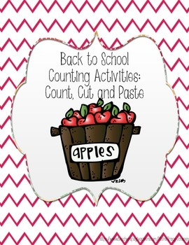Back to School Count, Cut and Paste