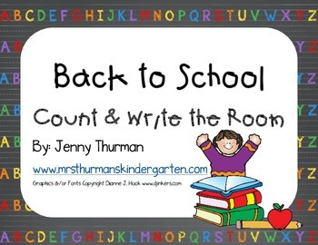 Back to School Count and Write the Room Freebie