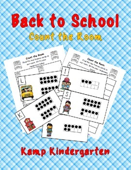 Back to School Count the Room (Quantities to 20)