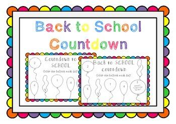 Back to School Countdown *FREEBIE*
