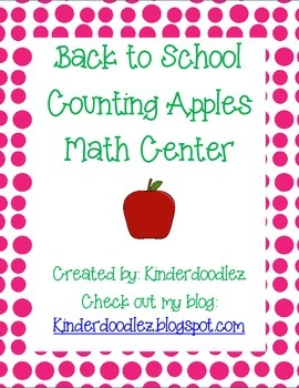 Back to School Counting Apples