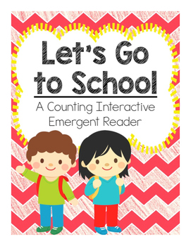 Back to School Counting Emergent Reader