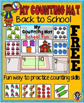 Back to School Counting Mat ~ 1-10 {FREE}