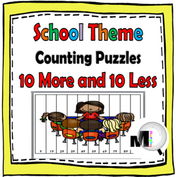 10 More 10 Less - Back to School Math Puzzles