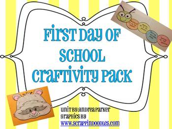 Back to School Craftivity Pack Including The Kissing Hand