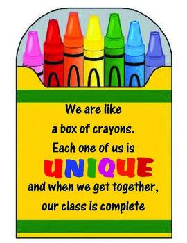 Back to School Crayons Bulletin Board