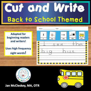 Handwriting: Back to School Cut, Glue and Write Sentence S