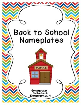 Back to School Desk Nameplates