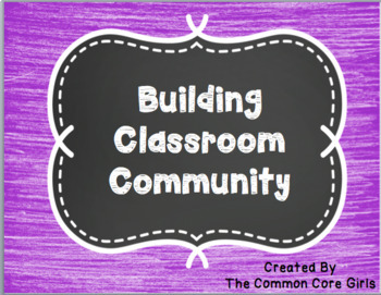 Back to School Community Building  in Your Classroom: Edit