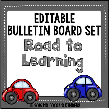 Back to School Editable Bulletin Board Set - Car Theme