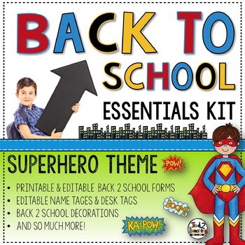 Back to School Editable Forms and Resources