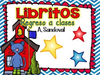 Back to School Emergent Books in Spanish libritos de regre
