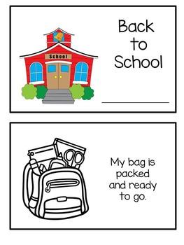 Emergent Reader Flip Book - Back to School