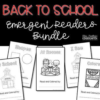 Back to School Emergent Readers Bundle