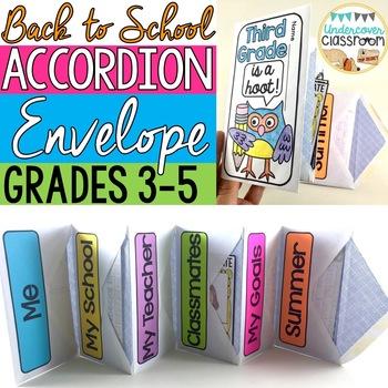 Back to School Envelope Accordion Book: Grades 2-5