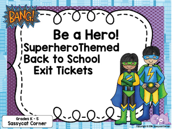 Back to School Exit Tickets for Routines and Procedures Su