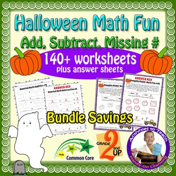 Halloween Fun Math Workheets - 140 pages