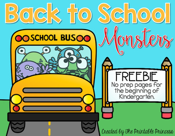 Back to School FREE {No Prep Pages}