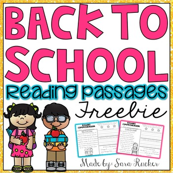Back to School {FREEBIE}