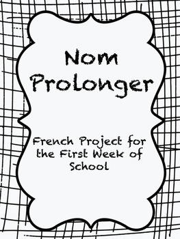 Back to School FRENCH project