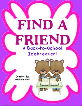 Back to School Find a Friend