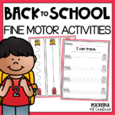 Back to School Fine Motor Centers for Kindergarten