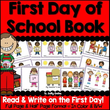 First Day of School Book, Back to School Book, Beginning o