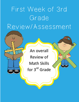 Back to School First Week of 3rd Grade Review/Assessment
