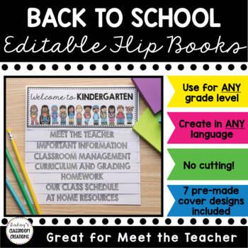 Back to School Flip Book! Meet the Teacher / Open House (F