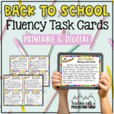 Back to School Fluency Task Cards