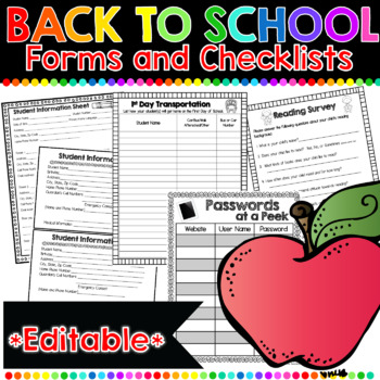 Back to School Forms: 47 Print-and-Go Forms to Keep You Or
