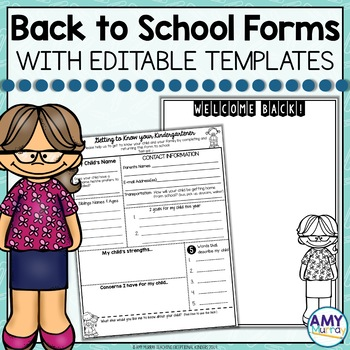 Back to School Forms & Teacher Introduction Letter Template