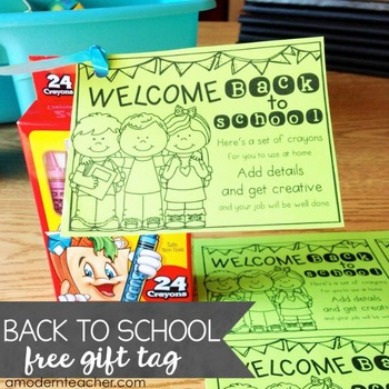 Back to School Free Download - Gift Tag