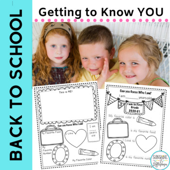Back to School Free Getting to Know You  K-First Grade+ EL