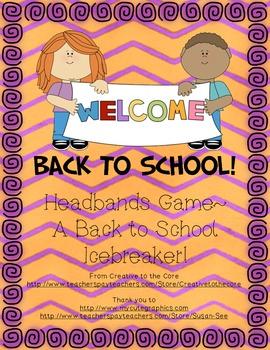 Back to School Freebie ~ Headbands Game!