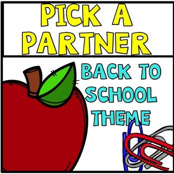 Back to School Freebie Pick a Partner