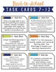 Back-to-School Freebie from The SuperHERO Teacher: Task Cards
