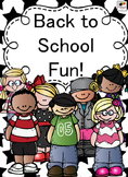 Back to School Fun 2nd grade