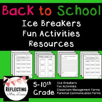 Back to School Fun Activities for Secondary