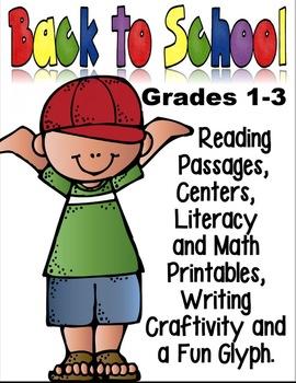 Back to School Fun: Math, Reading Passages, Centers, Writi
