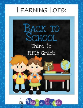 Back to School Games & Activities for Third, Fourth and Fi