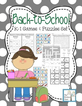 Back to School Games & Puzzles Activity Set