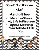 """Back to School """"Get to Know Me"""" Activities!"""