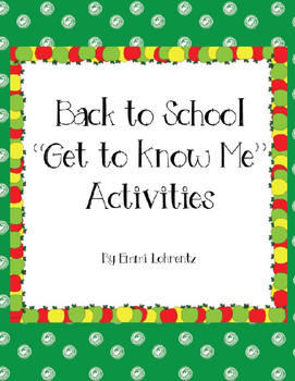 """Back to School """"Get to Know Me"""" Freebies"""