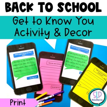 Back to School Get to Know You Activities with iMessages