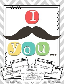 I Mustache You a Question - Class Meetings, Question of th