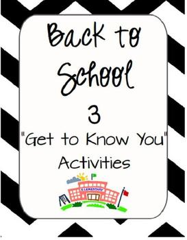 Back to School - Getting to Know Each Other
