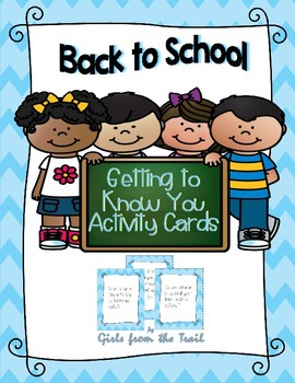 Back to School Getting to Know You Activity Cards