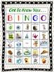 Back to School- Getting to Know You Bingo
